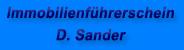 Kundenlogo Immobilienführerschein D. Sander aus Duisburg